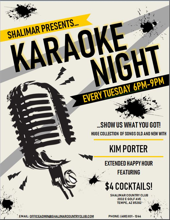 KARAOKE NIGHT FLYER OFFICIAL