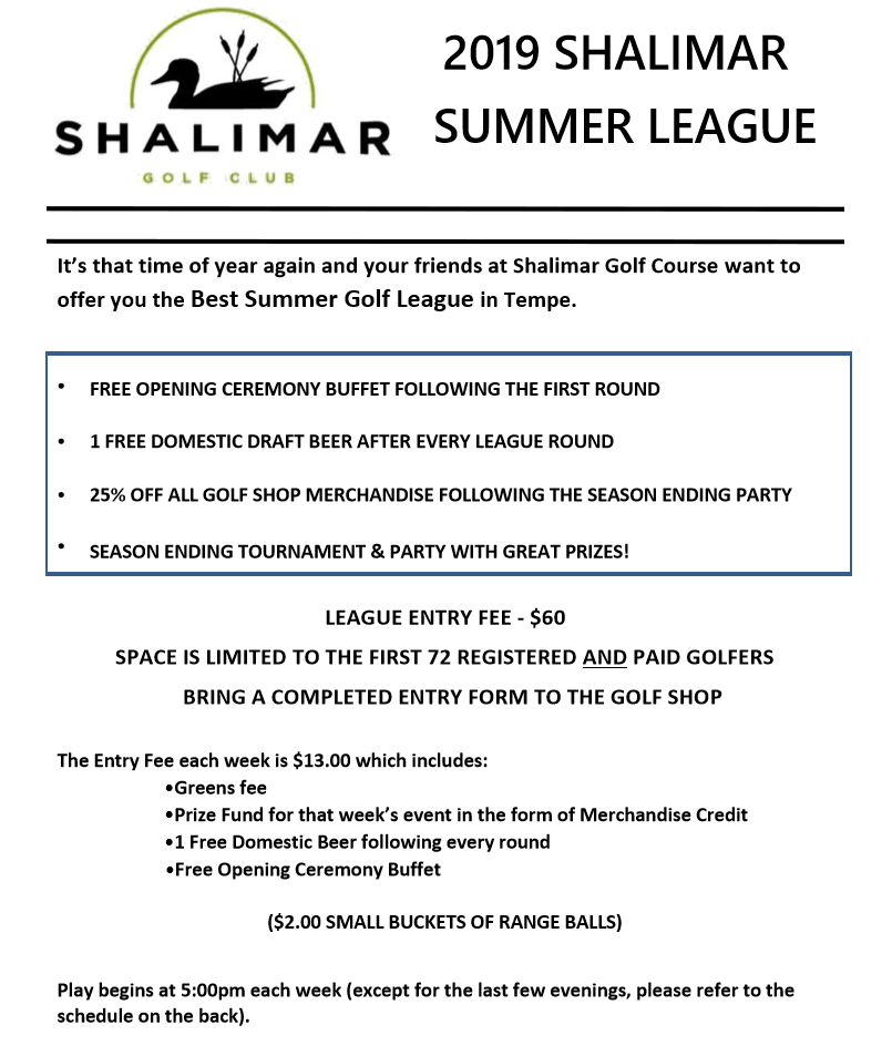 Friday Summer League