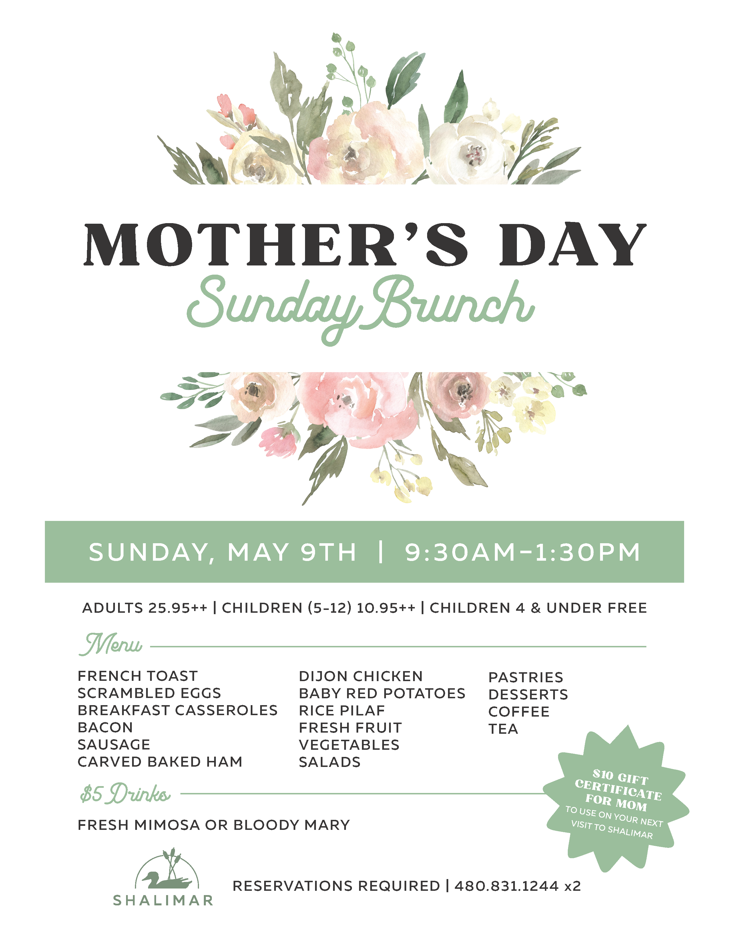 Mother's Day at Shalimar